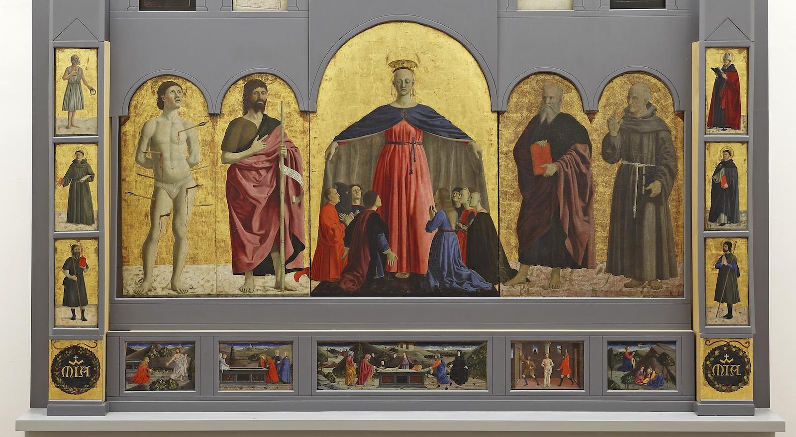 """Le trasferte della """"Madonna della Misericordia"""" di Piero della Francesca"""