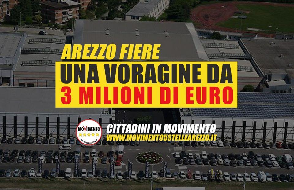 AREZZO FIERE, UNA VORAGINE DA OLTRE 3 MILIONI DI EURO