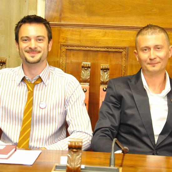 I portavoce del Movimento in Consiglio Comunale: Lucio Bianchi, Daniele Farsetti